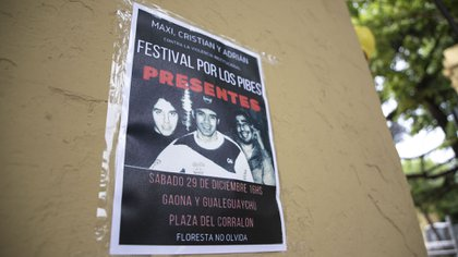 """""""Festival por los pibes"""", el anuncio del homenaje que se realizará en una de las plazas del barrio."""