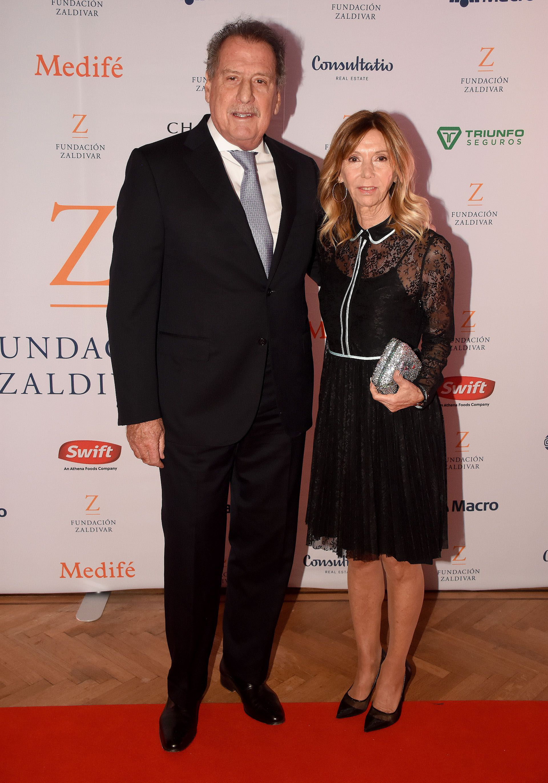 The businessman Jorge Brito and his wife Marcela Carballo at an edition of the Zaldívar Foundation gala, at the Alvear Palace Hotel