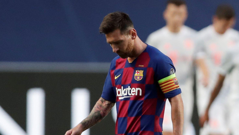 La impotencia de Lionel Messi durante la derrota histórica ante Bayern Múnich (Manu Fernandez/Pool via REUTERS)