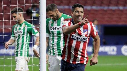 Luis Suárez, feliz en Atlético Madrid (REUTERS/Javier Barbancho)