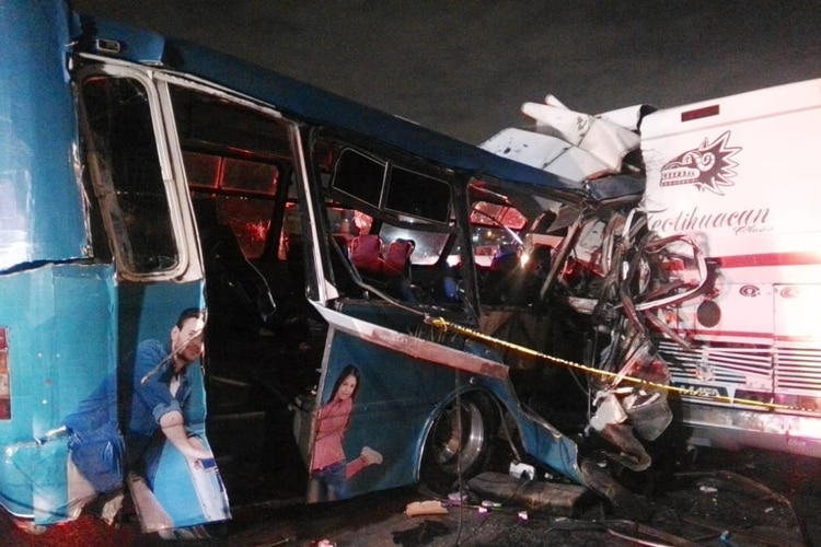 Accidente autopista Pachuca (Foto: twitter)