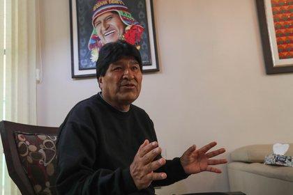 El ex presidente de Bolivia Evo Morales