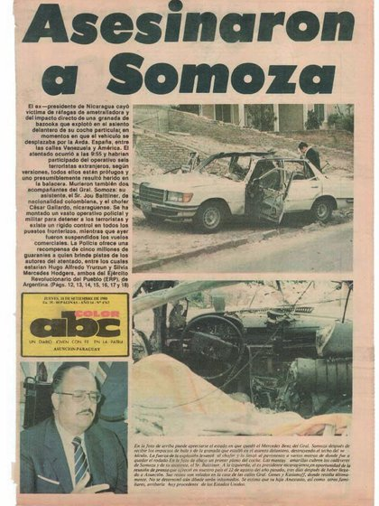 La muerte de Somoza reflejada en el diario ABC