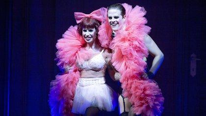 Florencia Peña y Mike Amigorena en Cabaret