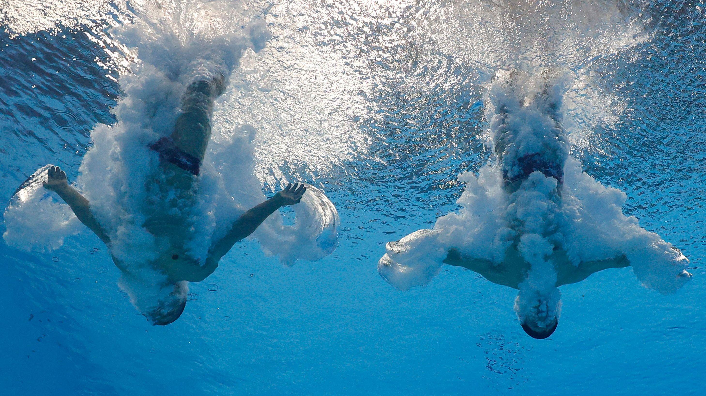 Sho Sakai no puede pasar demasiado tiempo mojado y mucho menos bajo el agua (Reuters)