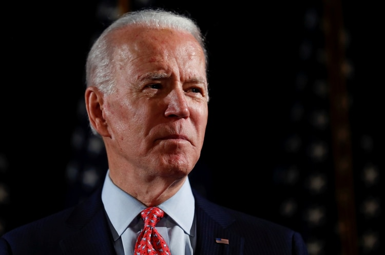 FILE PHOTO: Democratic U.S. presidential candidate and former Vice President Joe Biden speaks at an event in Wilmington, Delaware, U.S., March 12, 2020. REUTERS/Carlos Barria/File Photo