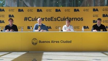 Santilli, Rodríguez Larreta, Quirós y Miguel (Prensa GCBA)