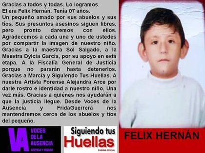 Félix Hernán fue identificado por sus familiares y las autoridades ya están en busca de justicia (Foto: Twitter @Fridaguerrera)