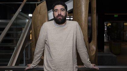 Claudio Ruiz, en el Novotel de la calle Corrientes en Buenos Aires (Foto: Adrián Escandar)
