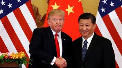 El presidente de Estados Unidos, Donald Trump, y su par chino Xi Jinping