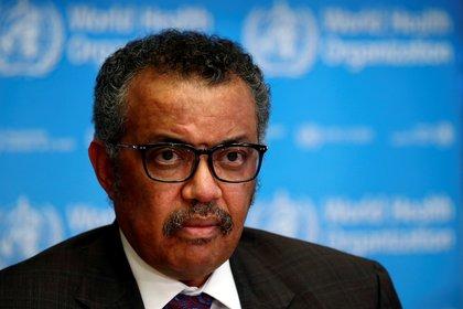 El Director General de la Organización Mundial de la Salud (OMS), Tedros Adhanom Ghebreyesus, asiste a una conferencia de prensa sobre la situación del coronavirus (COVID-2019), en Ginebra (Suiza), el 28 de febrero de 2020 (REUTERS/Denis Balibouse)