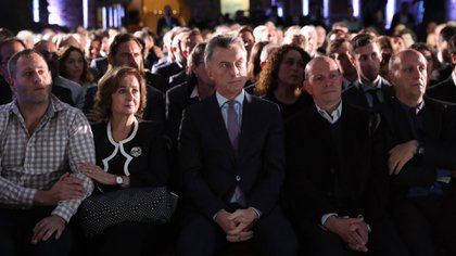 Macri durante el acto en el Museo de Casa Rosada (Presidencia)