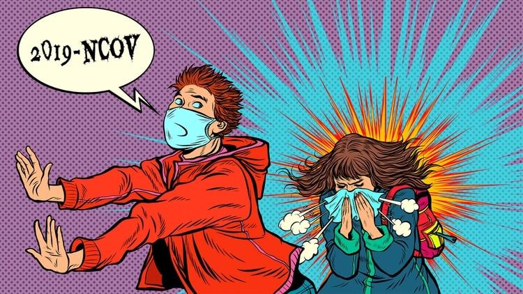 Ante una tos o estornudo cercano es fácil entrar en un estado nervioso, aseguran los expertos (Shutterstock)