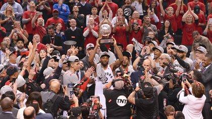 Por primera vez en su historia, los Toronto Raptors jugarán por el título de la NBA (Getty Images/AFP)