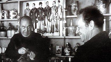 Pablo Neruda y Nicanor Parra