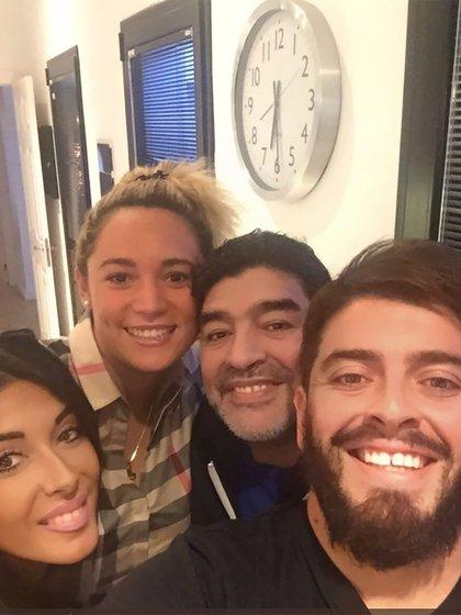 Diego Maradona, Rocío Oliva, Junior y su esposa