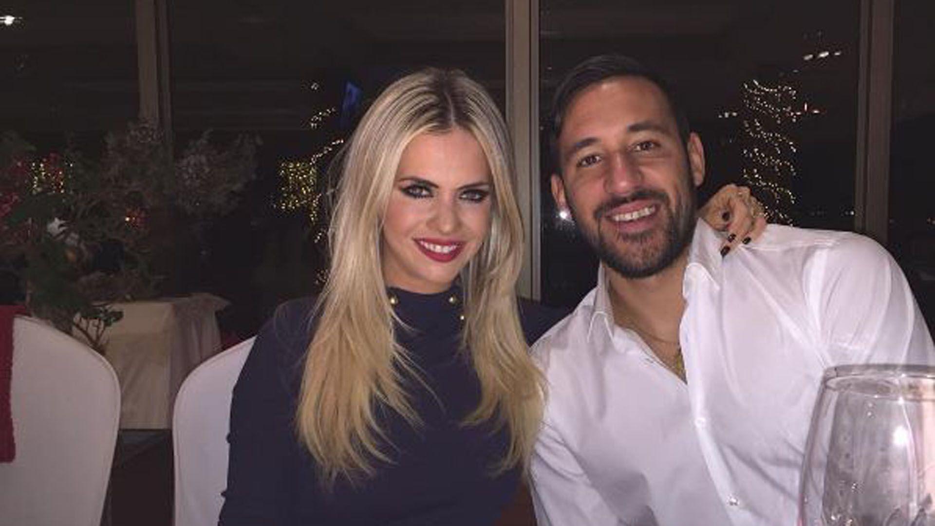 Alejandra Maglietti y Jonás Gutiérrez estuvieron en pareja durante varios años, al comienzo, a la distancia hasta que el jugador volvió a la Argentina.