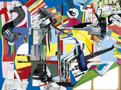 """Luis Felipe Noé, """"Crac"""" (tinta y acrílico sobre tela, 2011)"""