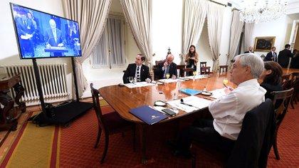 El presidente de Chile observó la sesión desde su despacho (Reuters)