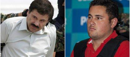 Joaquín Guzmán Loera y su presunto hijo, detenido en 2012 en Zapopan, Jalisco (Foto: especial)
