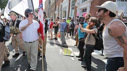 Supremacistas en Charlottesville
