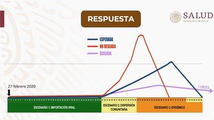 Las fases del coronavirus que se prevén en México (Foto: Especial)