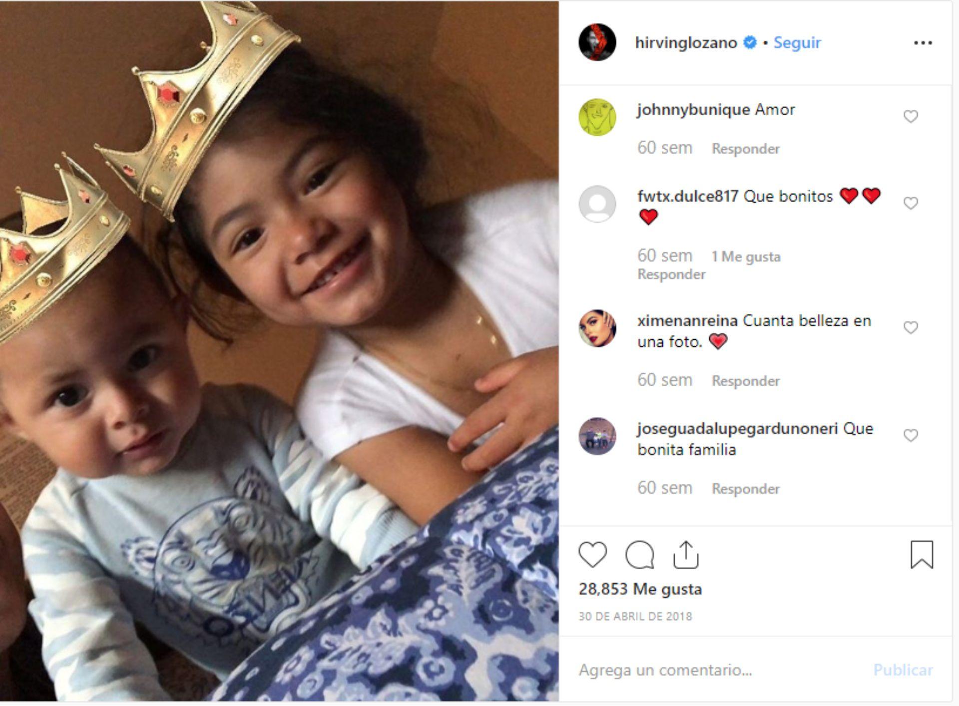 Hirving presumió a sus hijos en redes sociales (Foto: Captura de pantalla de Instagram)