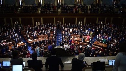 Asumieron los nuevos integrantes del Congreso de EEUU (AFP)