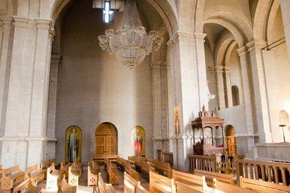 La nave central de la catedral antes de los bombardeos. (Matt Werner/Flickr)