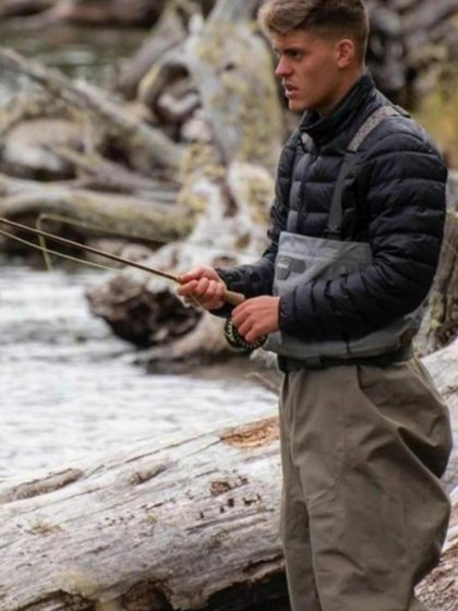Federico Girotti aprovechó para ir de pesca (instagram)