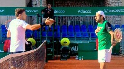 """""""No metas a mi novia en esto"""": fuerte discusión entre dos jugadores en el Masters 1000 de Montercalo"""