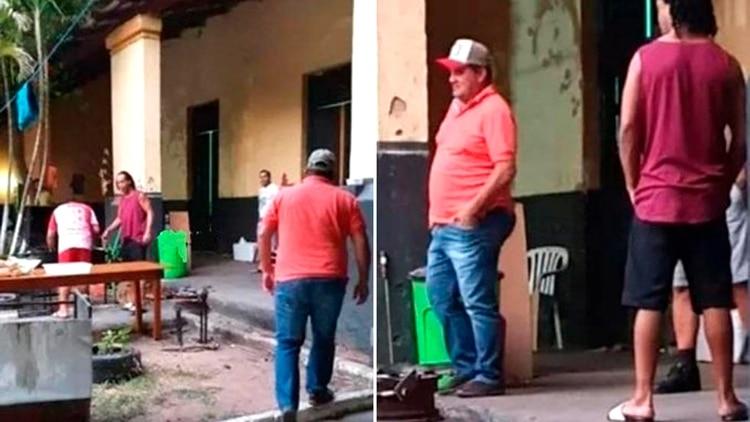 Las últimas imágenes que se filtraron de Ronaldino en prisión.