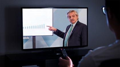 Se extiende la cuarentena: pico de 53,2 puntos de rating para el discurso de Alberto Fernández