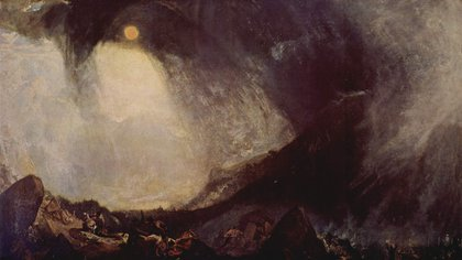 """""""Aníbal cruzando los Alpes"""" (1812)"""