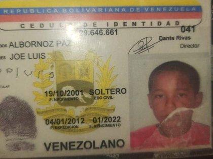 El joven asesinado fue identificado como Joel Albornoz
