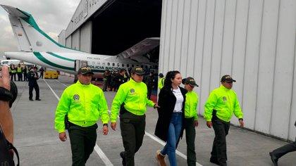 La hija de Aída Merlano ya se encuentra en Bogotá