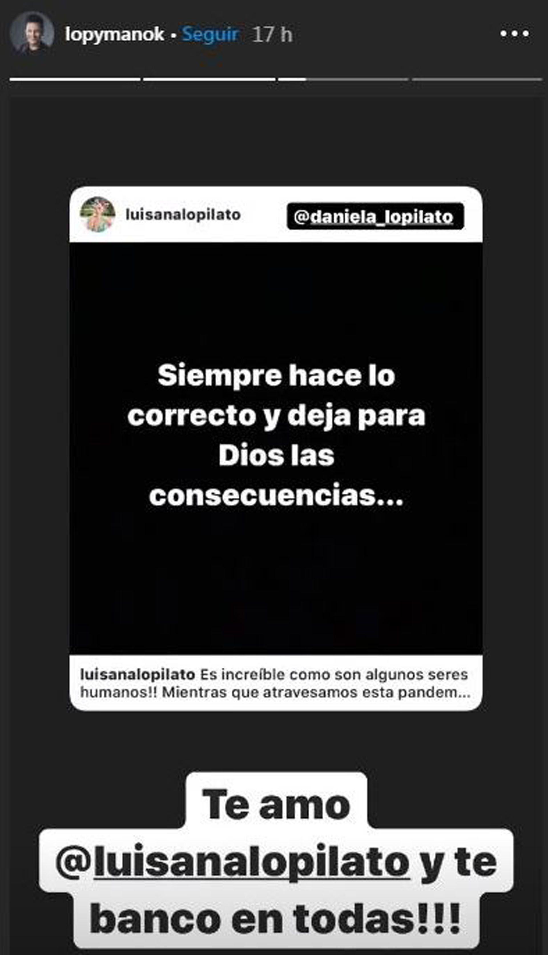 Las tiernas palabras de Darío para Luisana (Foto: Instagram)