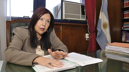 Jueza de Casación Ana María Figueroa (foto Adrián Escandar)