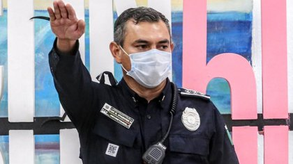 Cancún nombró nuevo secretario de Seguridad Pública, Rubén Oyarvide Pedrero, tras irrupción a tiros de la policía en protesta feminista (Foto: Municipio de Benito Juárez, Quintana Roo)