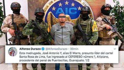 """Alfonso Durazo dio a conocer la detención de José Antonio """"Y"""", el """"Marro"""" (Foto: Especial)"""