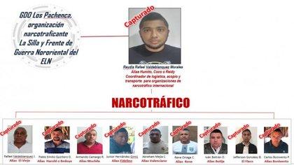 Estructura de la organización narcotraficante capturada por la Policía y la Armada Nacional / (El Heraldo).