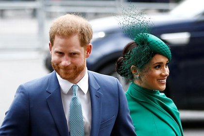 FILE PHOTO: Britain's Prince Harry and Meghan, Duchess of Sussex, arrive for the annual Commonwealth Service at Westminster Abbey in London, Britain March 9, 2020. REUTERS/Henry Nicholls
