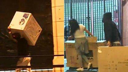 Imágenes de los saqueos en Santiago de Chile
