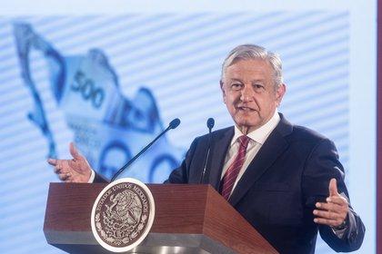 El presidente Andrés Manuel López Obrador en una conferencia de prensa donde habló del crecimiento de la economía mexicana (Foto: Cuartoscuro)