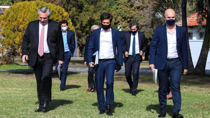 Axel Kicillof, gobernador de la Provincia, acompañó al presidente Alberto Fernández en el anuncio de la extensión de la cuarentena junto a Horacio Rodríguez Larreta