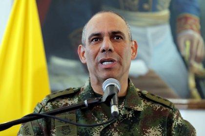 En la imagen, el comandante del Ejército de Colombia, General Eduardo Zapateiro. EFE/Mauricio Dueñas Castañeda/Archivo