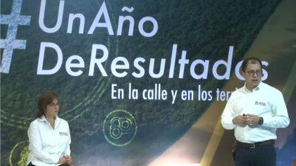 El miércoles en la tarde el Fiscal Francisco Barbosa presentó el balance de su primer año de gestión. Foto: Fiscalía General de la Nación