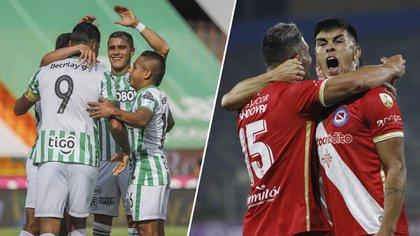 Argentinos Juniors visita a Atlético Nacional para defender el liderazgo de su zona en la Copa Libertadores: hora, TV y formaciones
