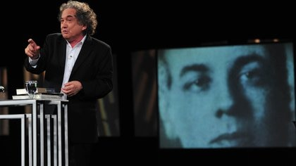 Ricardo Piglia y Jorge Luis Borges (Télam)