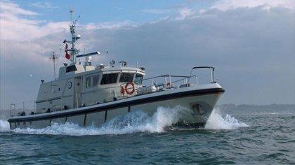 Uno de los barcos involucrados en la búsqueda del avión que trasladaba a Emiliano Sala